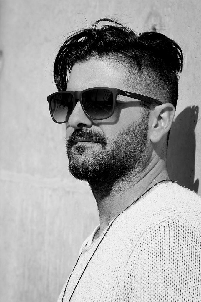 5-Tage-Bart-Mann-Sonnenbrille